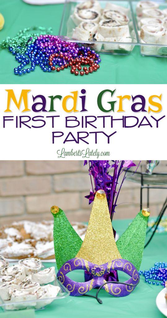 Jackson's Mardi Gras First Birthday Party