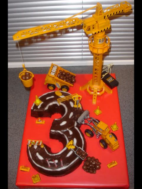 Pretty sure my brother had birthday cakes like this when we were younger. Excavator's children!