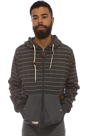 The Classic Zip-Up Hoody in CharcoalGrey M|L|S