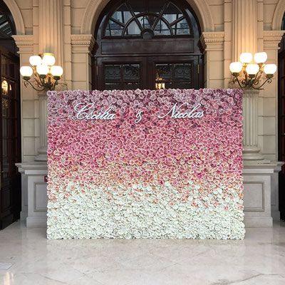 Nos murs de fleurs - La Vie En Roses Wedding planner Paris - organisation de mariages et d'évènements en Ile de France