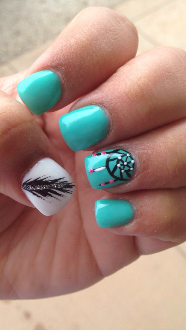 25+ Best Ideas About Dream Catcher Nails On Pinterest
