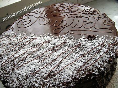 Torta al cocco e mousse al cioccolato