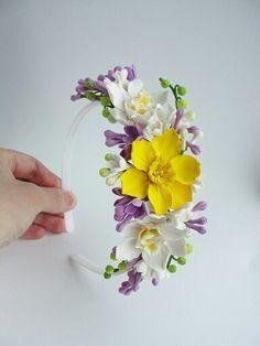 Ободок. Headband. Flowers headband. Spring. Handmade flowers. Flowers. Handmade…