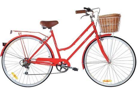 Red Vintage Ladies Bike by Reid Cycles