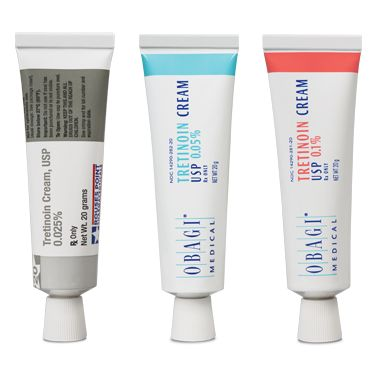 Try #Obagi #Tretinoin, a topical cream indicated for application in the treatment of acne vulgaris. Available in 3 strengths: 0.025%, 0.05%, and 0.1%. Valid prescription required.