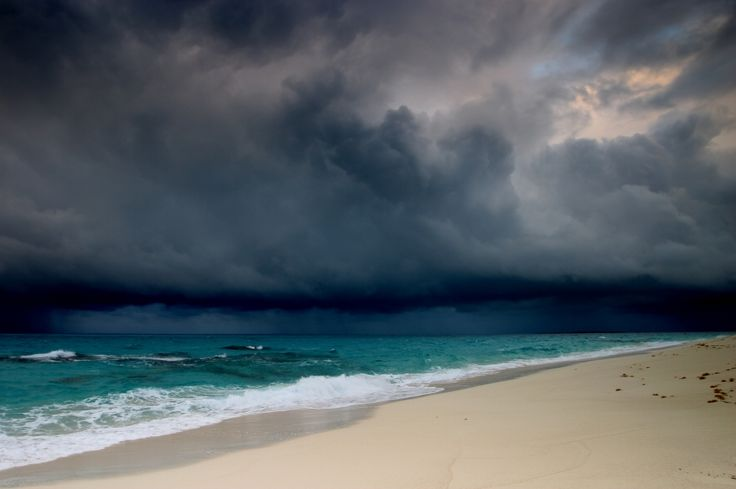 10. Watch a storm on the beach