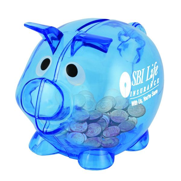 Promotional lil billie small pig piggy bank spirit week Decorative piggy banks for adults