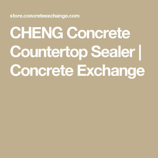 CHENG Concrete Countertop Sealer | Concrete Exchange
