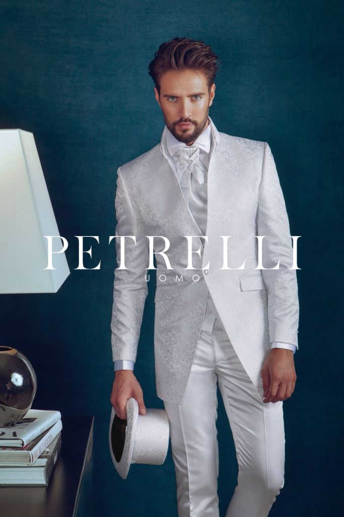 Petrelli Uomo abito sposo 2015 white look Top Gold