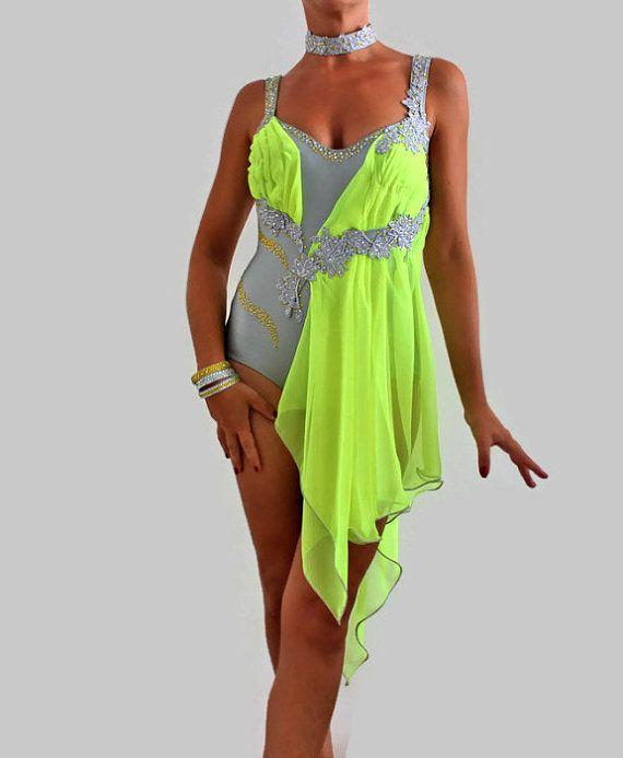 Dancesport costume latin ballroom dress for by CrinolinAtelier