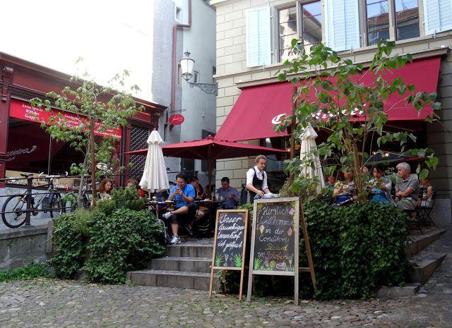 Outdoor Terrace of Conditorei Café Schober in Zurich