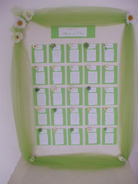 #Custumized #Handmade #Tableaux #de #mariage #Flower #Green