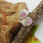 Kunzit, facettiert, rosa, Ring, Bandring, Ø 18,75 mm, 925 Sterling Silber