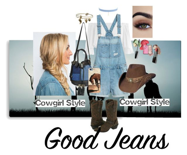 """Jeans x cowgirl"" by chechylmiliani on Polyvore featuring Jules Smith, Sans Souci, See by Chloé, Sweet Romance and Durango"