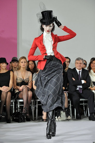 John Galliano Takes a Riding Crop to Spring 2010 Dior Couture, While Tavis Giant Bow Grabs Some of the Attention