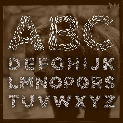 【Elmars Hairy Typeface】 箱庭 | 使える!かわいい!フリーフォントまとめ 01