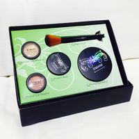 EMANI Makeup set. Designed for professional make up artists and skin professionals alike, Emani Minerals are vegan friendly, talc, gluten & paraben free mineral cosmetics. They are made with natural mineral pigments and certified organic ingredients. With the use of Emani products fine lines are softened, skin texture appears more even, and makeup feels weightless. All the products have natural protection of SPF 17.