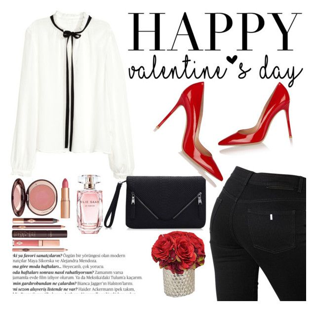 Valentine's day by betti-nyilas on Polyvore featuring polyvore, fashion, style, STELLA McCARTNEY, Elie Saab, Charlotte Tilbury, Balmain, women's clothing, women's fashion, women, female, woman, misses and juniors