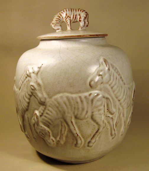 Mobach - Vaas met zebra`s