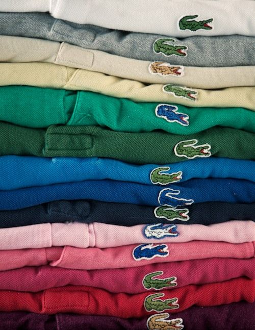 70s - 80s: You had to have a gater in every color!  There was no replacement for Izod!  Oh and don't forget to layer them, turning the collars up!