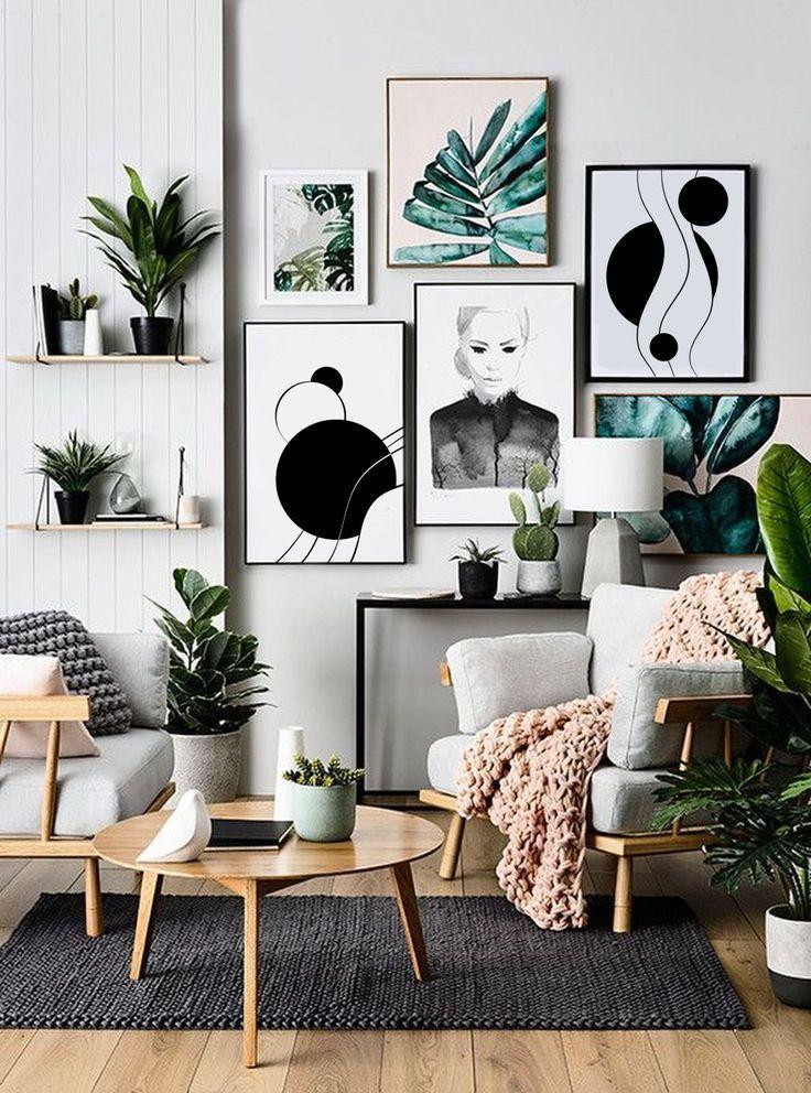 Geometric Wall Art Minimalist Abstract Poster Print Printableideas Printableposter Pr Scandinavian Decor Living Room Rooms Home Decor Creative Home Decor