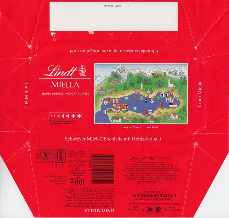 Miella  Milchschokolade mit Honig Nougat 1990