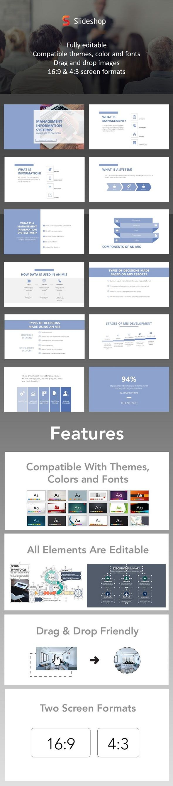 Management Information Systems - #PowerPoint #Templates Presentation Templates Download here:  https://graphicriver.net/item/management-information-systems/20162525?ref=alena994