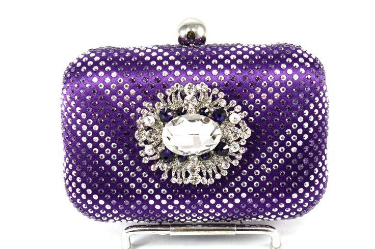 Crystal Bridal Clutch, Purple Crystal Bridal Clutch, Purple Wedding Purse, Purple Statement Evening Clutch by bloomsnbrides on Etsy