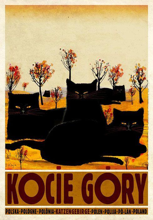 Ryszard Kaja, Cat Mountains, Polish Promotion Poster