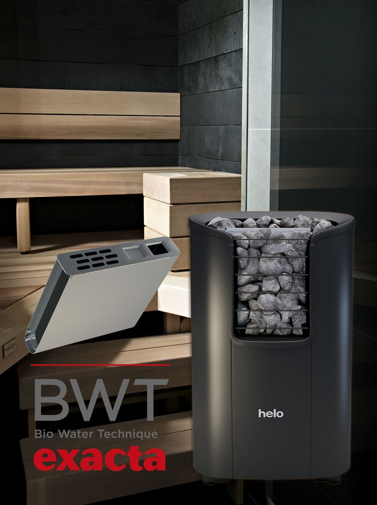Watertank with saunaheater brings extra moisture to your sauna. Try the BWT-experiense.