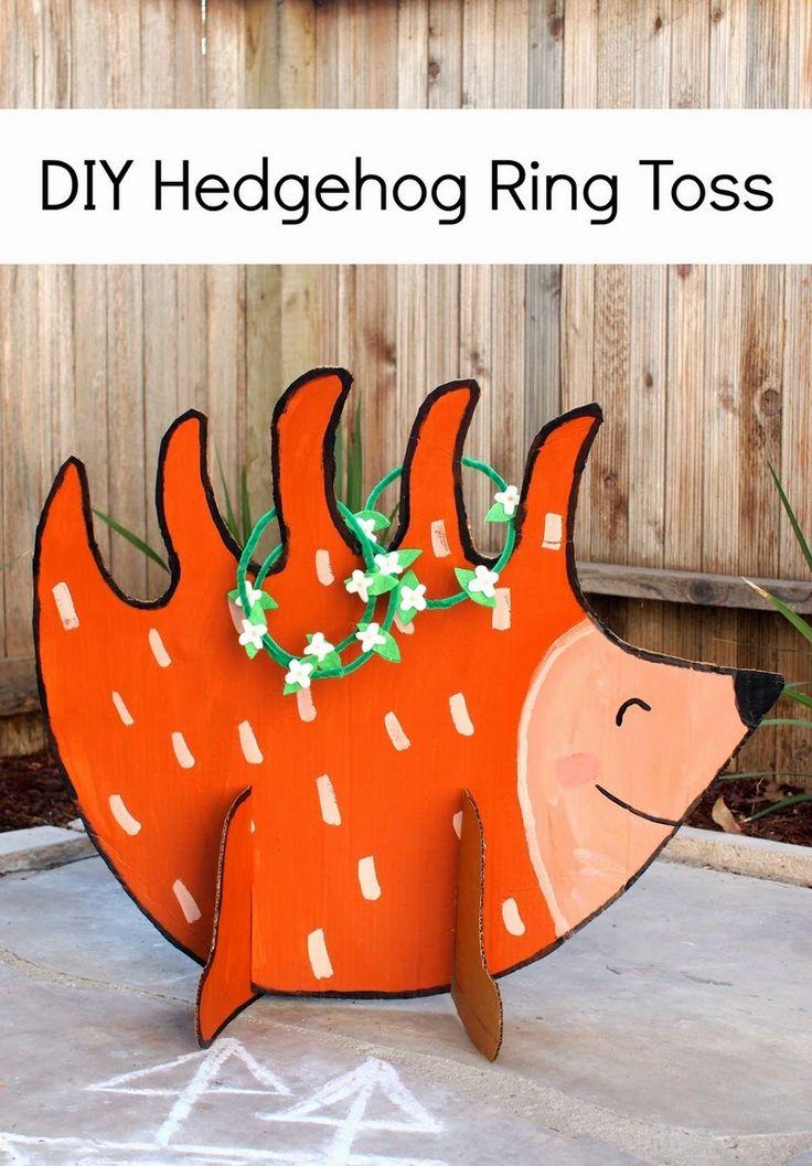 DIY Hedgehog Ring Toss (Made from cardboard!)