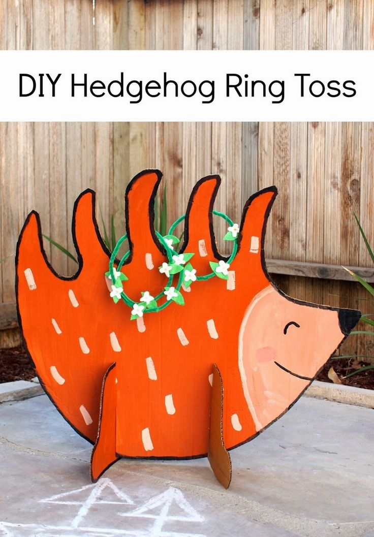 DIY Hedgehog Ring Toss (Made from cardboard!)