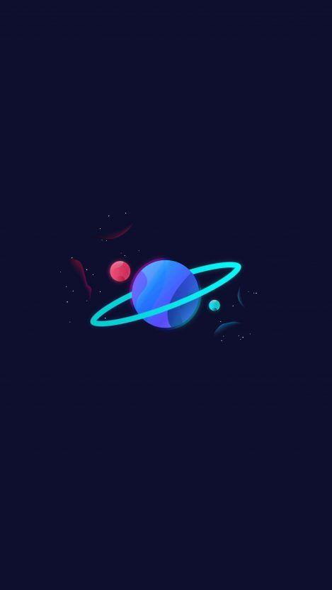 Planet Saturn Glow iPhone Wallpaper - iPhone Wallpapers