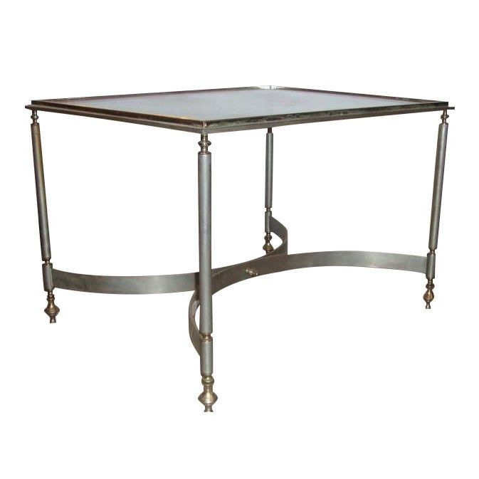 Jansen Brass Glass Coffee Table Table Glass Top Coffee Table
