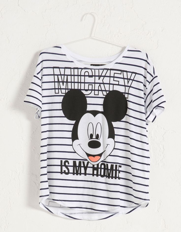 Camiseta Mickey BSK - Camisetas - Bershka España