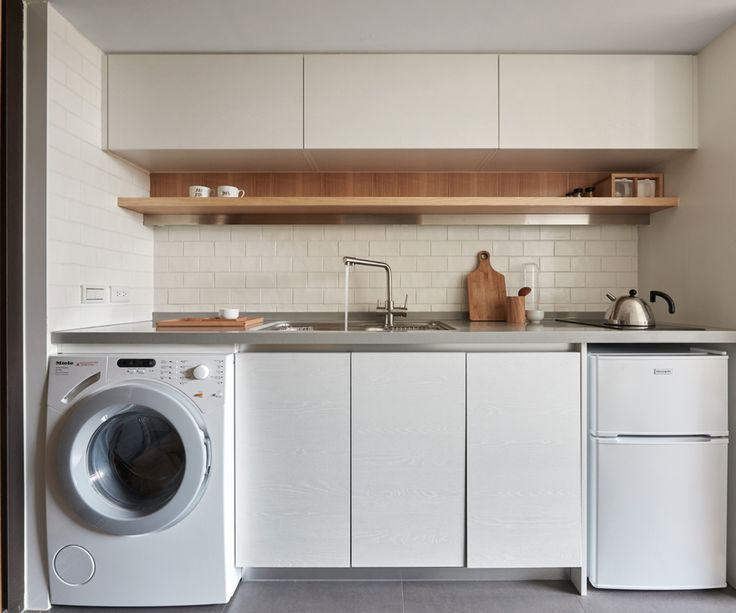 Superb Laundry In Kitchen Design Ideas Part - 11: Tiny Apartment - A Little Design - Taipei Taiwan - Kitchen - Humble Homes