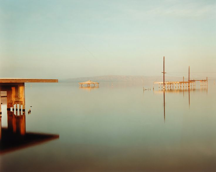 Richard Misrach Submerged Gazebo, Salton Sea, California 1984 (printed 1997).