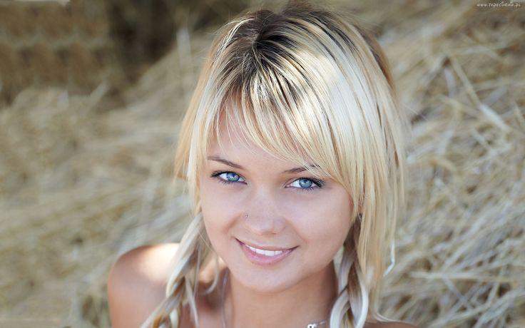 Dziewczyna, Blondynka, Uroczy, Uśmiech
