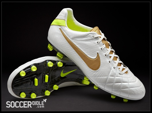 nike nike soccer white and gold