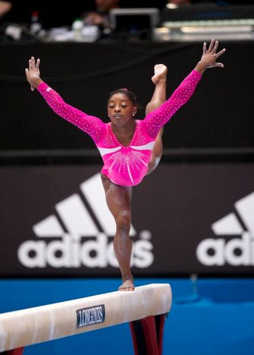 Simone Biles,she was just so amazing I mean