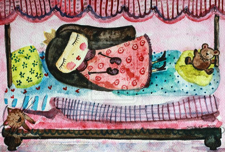 The sleeping princess by Anna Gensler