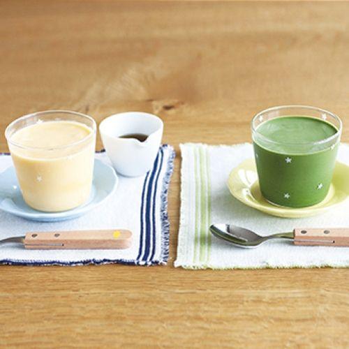 とろとろプリン/抹茶ミルクプリン