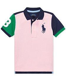 cf48fa7c Polo Ralph Lauren Toddler Boys Cotton Mesh Polo Shirt & Reviews - Shirts &  Tees - Kids - Macy's