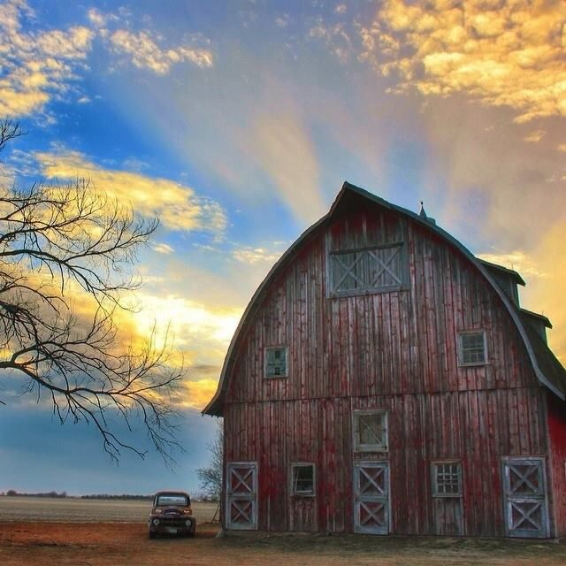 Sky And Barns On Pinterest