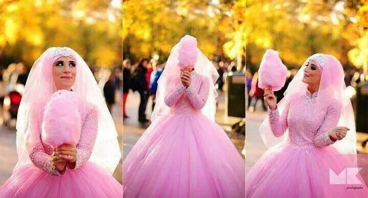 Cotton candy pink bridal