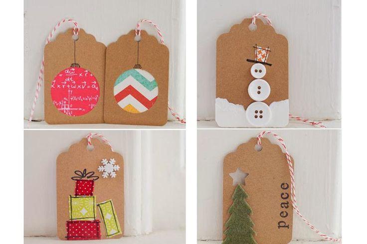 Ideas para crear tus propias tarjetas de Navidad y Año Nuevo  También se pueden personalizar de distintas formas los tags o etiquetas de los regalos. ¡Hay miles de alternativas!. Foto: 1dogwoof.com