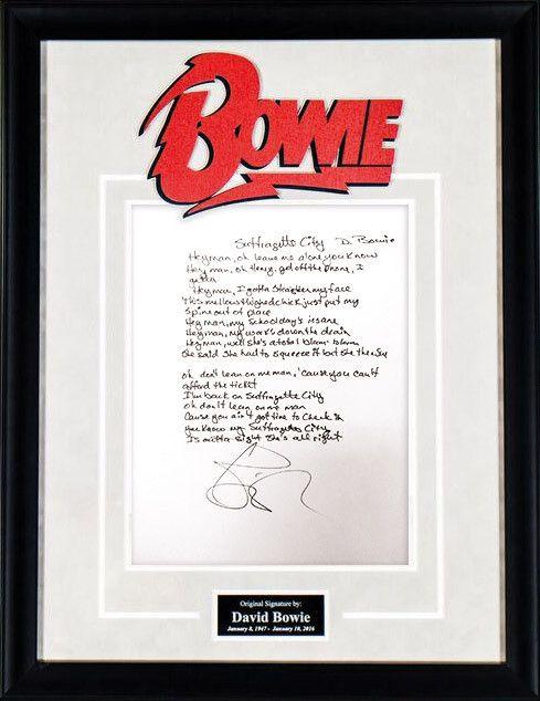 """DAVID BOWIE """"Suffragette City"""" - Rare Original Handwritten Lyrics"""