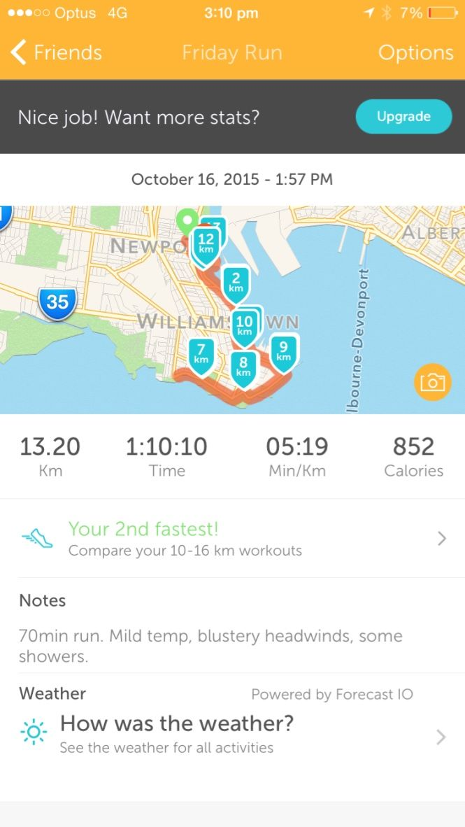 My long run for the week