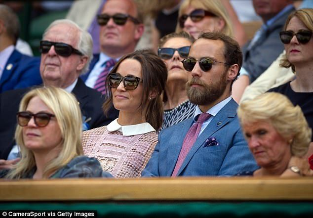 If there is one family I would ban from the Wimbledon box of power, it is the sodding Middleton mafia, writes Katie Hopkins (James is pictured with sister Pippa in the royal box)