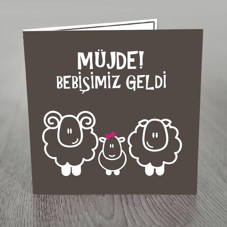 Doğum duyuru kartı, doğum müjdesi, geboortekaart in Turks  Van nhldesign